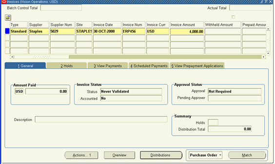 Rental Receipt Format Word Procure To Pay Cycle Free Invoices Templates Excel with Toll Plate Invoice Excel Click The Match Button To Match To Either Purchase Order Or Receipt  Depending On The Invoice Match Option Specified On The Po And Avoid  Manually Entering  Due Upon Receipt Of Invoice Word