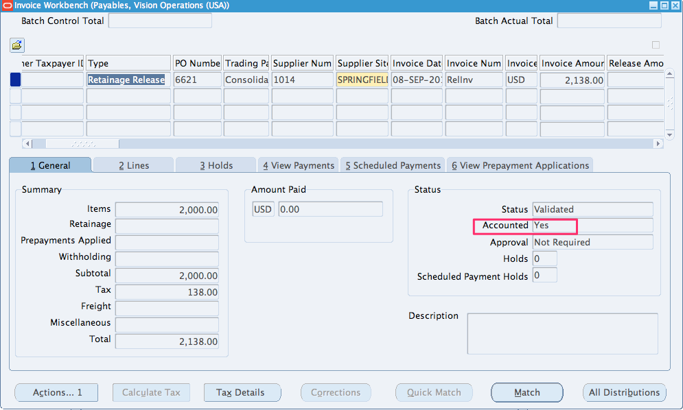 how to create ap invoice in oracle apps r12