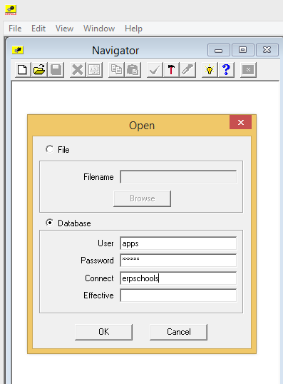 workflow save from file to database